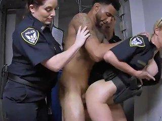 Blonde MILF Big Natural Tits Skinny Black Was Just Minding His Business