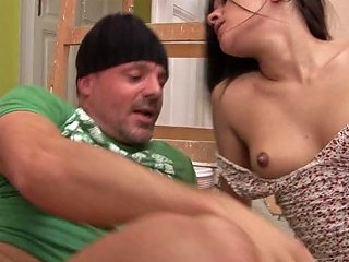 Repairman Gets To Fuck The Sexy Teen Girl In A Short Dress