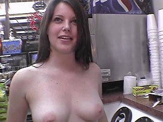 Hot Brunette Naked In Restaurant Gas Station And On The Streets Of Tampa Florida Porn Videos