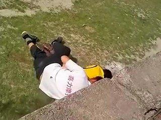 Drunk Guy Fucks Totally Drunk Girl