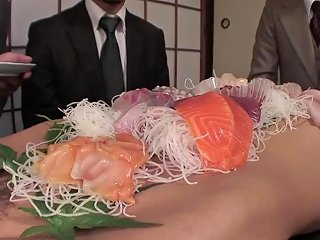 Business Men Eat Sushi Out Of A Naked Girl Amp 039s Body Sunporno Uncensored