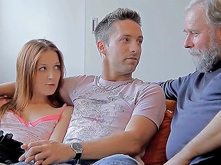 Horny Old Dude Teases Babe Segment Movie 1