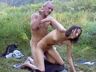Ugliest Oldman Fucks Anorexic Girl In The Woods Porn 2c