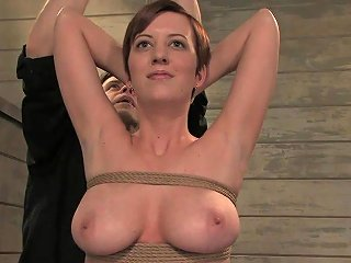Clothespins Torture For A Busty Slave With Big Natural Tits
