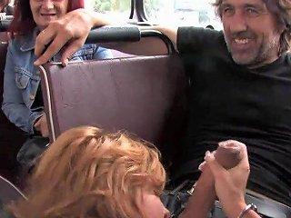 Euro Bitch Fucks Huge Penis In Public Bus