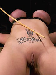 Claire DamesHer huge tits, brutally bound and oiled. Her body spread and tortured.