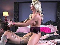 Blonde Transgender Anal Fucks Before Cuming
