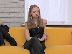 Fake Russian Casting With A Blonde Teen