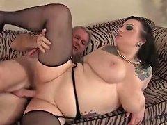 Bbw Goth Hottie Is Amazing On Top Of Her Man