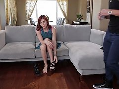 Flat Chested Redhead Teen Tranny Gets Fucked By Stepbro