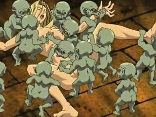 Wife Hentai Monsters Hard Gangbang
