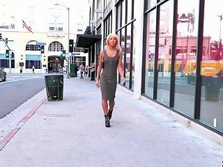 Steamy Blond Hair Girl Babe Enjoys A Huge One High Quality Skinny